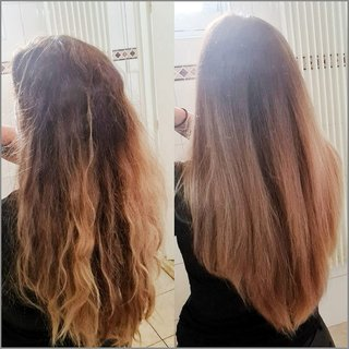 voor en na foto nathalie